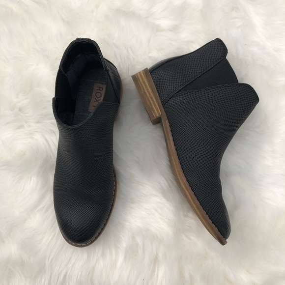 Roxy Shoes   Flat Black Booties   Poshmark